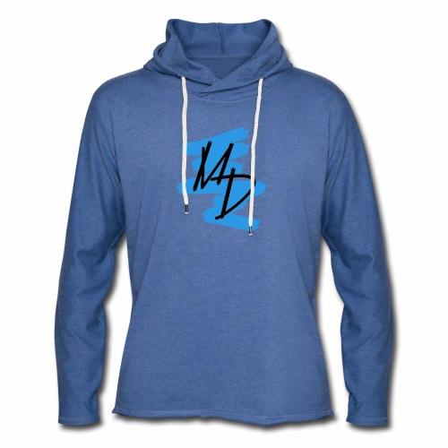 Sudadera unisex con logo MD original en azul - Sudadera ligera unisex con capucha