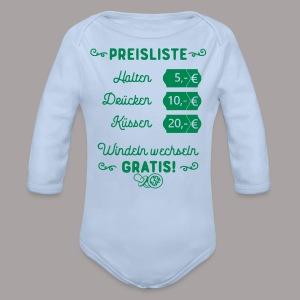 Preisliste - Baby Bio-Langarm-Body