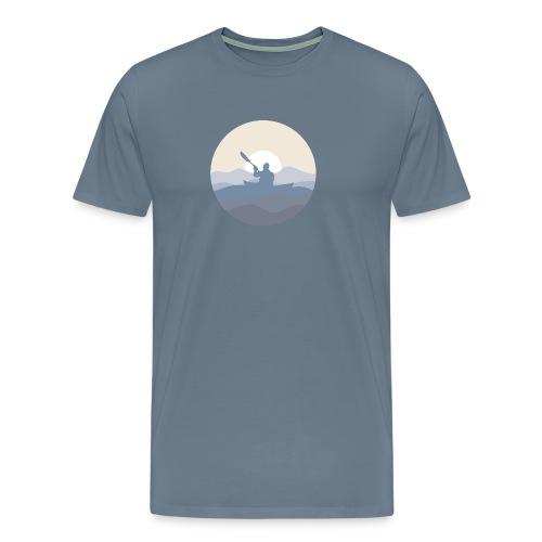 Kajak i solnedgång, herr - Premium-T-shirt herr