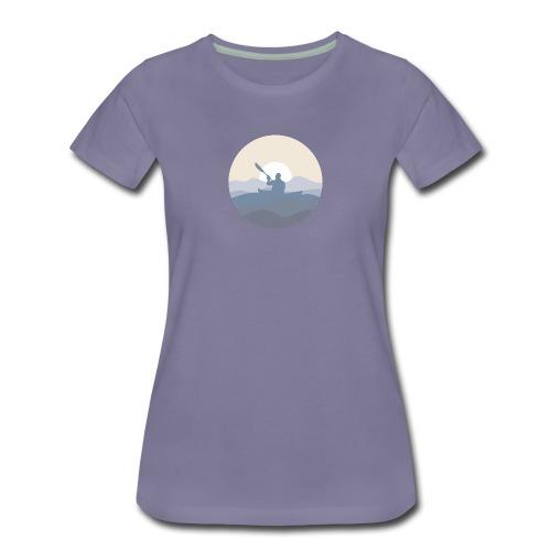 Kajak i solnedgång, dam - Premium-T-shirt dam
