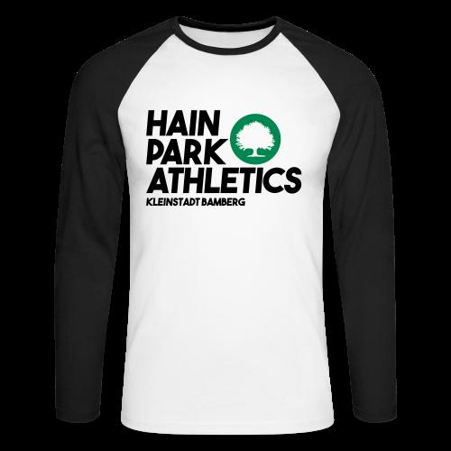 Hain Park Athletics - Herren Baseball Langarmshirt - 100% Baumwolle - #KERWA  - Männer Baseballshirt langarm