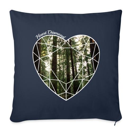 coussin diamond heart - Housse de coussin décorative 44x 44cm