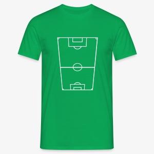 T-shirt herr med fotbollsplan fram och text bak. - T-shirt herr