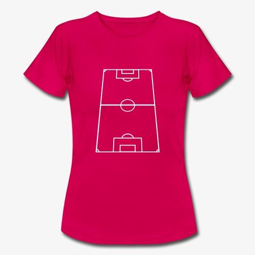 T-shirt dam med fotbollsplan fram. - T-shirt dam