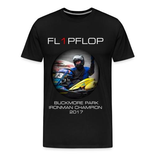 FL1PFLOP Buckmore Park Ironman Champion 2017 Tee - Men's Premium T-Shirt