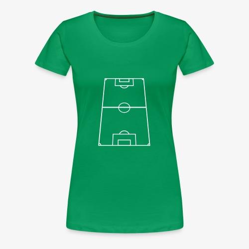T-shirt premium dam med fotbollsplan fram - Premium-T-shirt dam