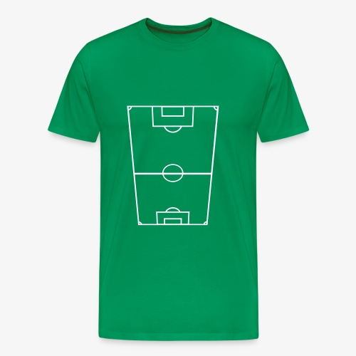 T-shirt premium herr med fotbollsplan fram. - Premium-T-shirt herr