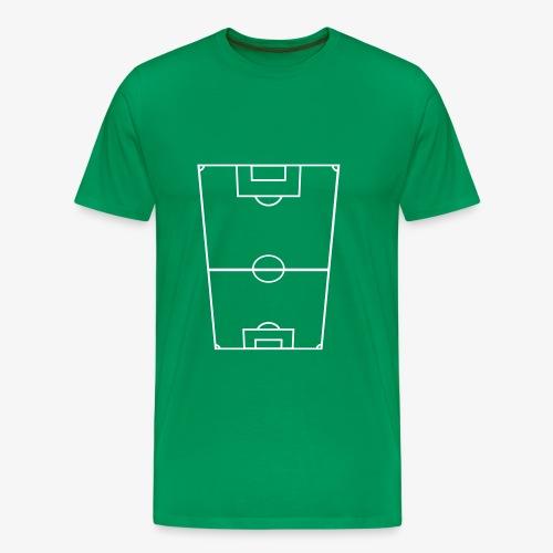 T-shirt premium herr med fotbollsplan fram och text bak. - Premium-T-shirt herr