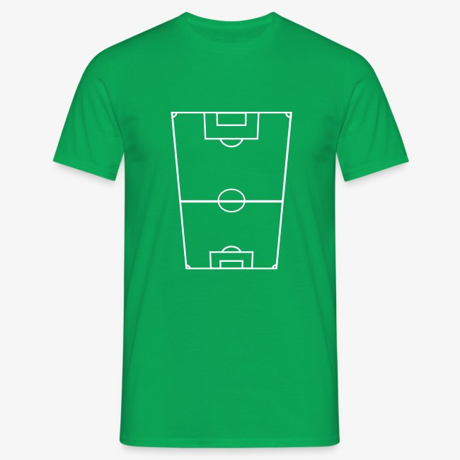 T-shirt herr med fotbollsplan fram.