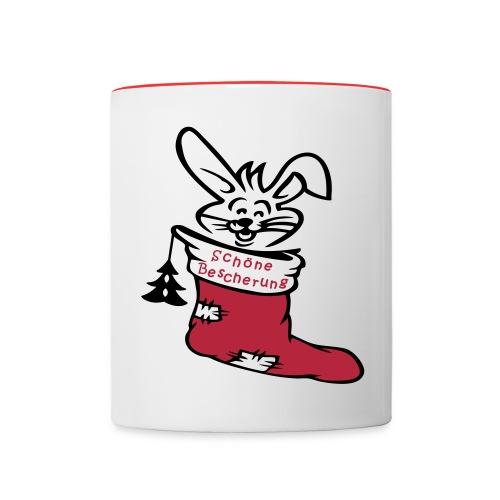Weihnachtsstiefel - Tasse zweifarbig