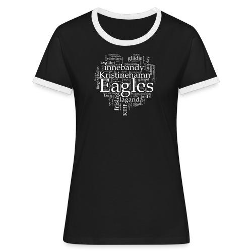 Eagles Retro Dam - Kontrast-T-shirt dam