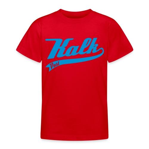 Hellblauer Flockdruck Classic - Teenager T-Shirt
