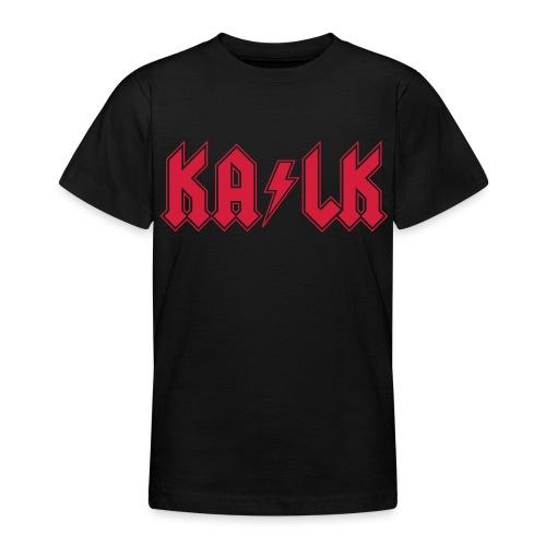 Roter Flexdruck  - Teenager T-Shirt