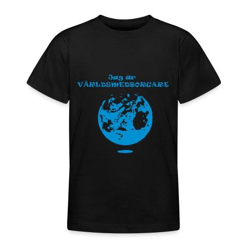Jag är världmedborgare - T-shirt tonåring