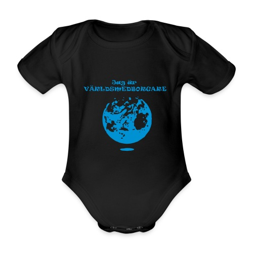Jag är världmedborgare - Ekologisk kortärmad babybody
