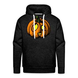 Pumpkin Halloween scribblesirii - Premium hettegenser for menn
