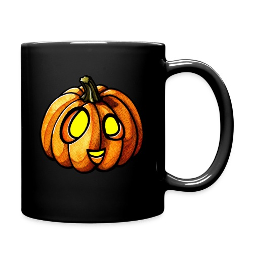 Pumpkin Halloween watercolor scribblesirii - Taza de un color