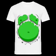 T-Shirts ~ Men's T-Shirt ~ Comic Fat Belly Green, beer gut, beer belly, chest t-shirt