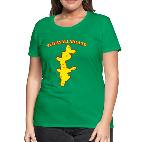 T-shirt dam Premium, Pizzasalladland - Premium-T-shirt dam
