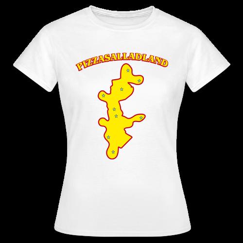 T-shirt dam, Pizzasalladland - T-shirt dam