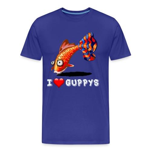 I Love Guppy - Männer Premium T-Shirt