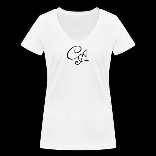 Carinano Frauen Shirt - Frauen Bio-T-Shirt mit V-Ausschnitt von Stanley & Stella
