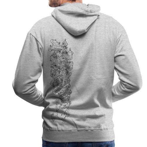 Der laufende Pilzkopf  - Männer Premium Hoodie