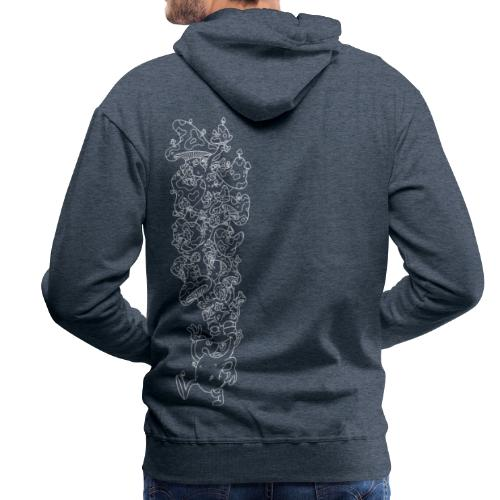Der laufende Pilzkopf (negativ) - Männer Premium Hoodie