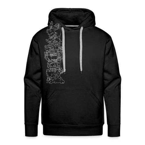 Monsterturm - Hoodie (negativ) - Männer Premium Hoodie