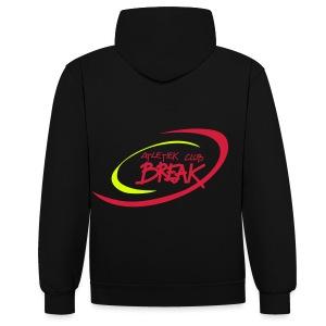 Hoody ACBR unisex zwart/rood - Contrast hoodie