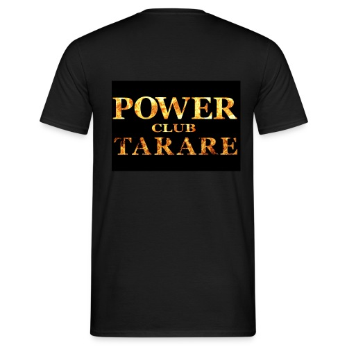 TEE SHIRT simple face BLACK POWER sponsor 2013  - T-shirt Homme