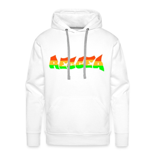 bianca reggae foglia marjiuana africa - Felpa con cappuccio premium da uomo