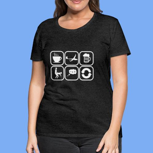 mein Tag als Segelflieger - Geschenk - Women's Premium T-Shirt