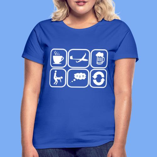 mein Tag als Segelflieger - Geschenk - Women's T-Shirt