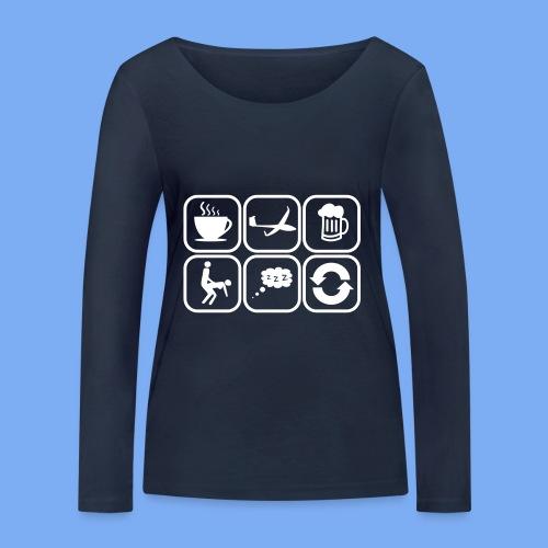 mein Tag als Segelflieger - Geschenk - Women's Organic Longsleeve Shirt by Stanley & Stella