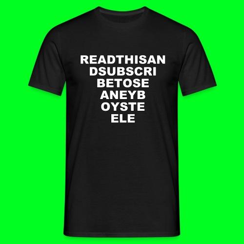 Read This... (T-Shirt) - Men's T-Shirt