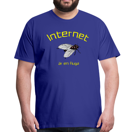 T-shirt Premium, Internet är en fluga - Premium-T-shirt herr