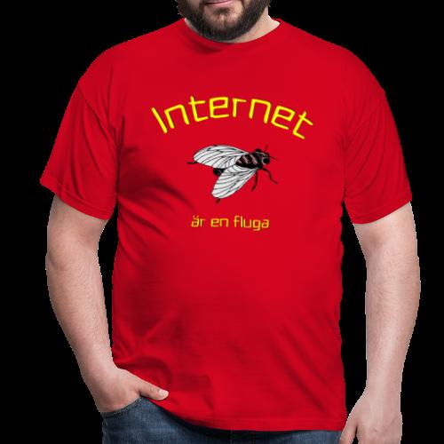 T-shirt, Internet är en fluga - T-shirt herr