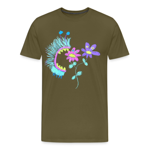 Male, eating flowers - Mannen Premium T-shirt