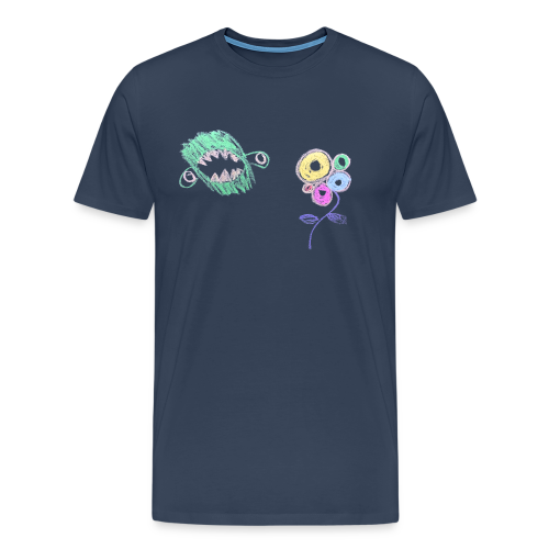 Male I hate flowers t‑shirt - Mannen Premium T-shirt