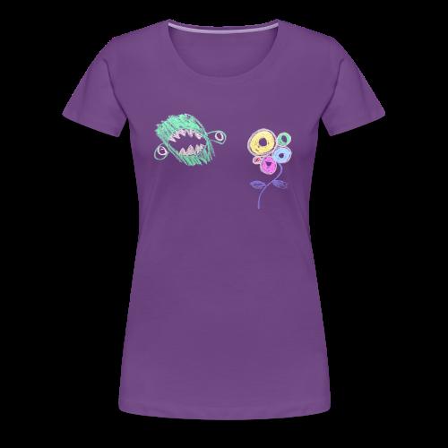 Female I hate flowers t‑shirt - Vrouwen Premium T-shirt