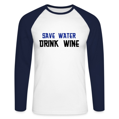 Save Water! - T-shirt baseball manches longues Homme