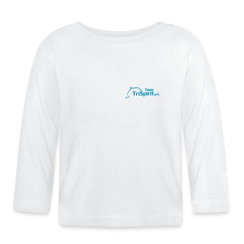Leni Shirt langarm blaues Logo - Baby Langarmshirt