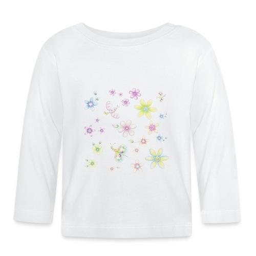 Fiori e farfalle - Maglietta a manica lunga per bambini