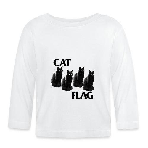 tee shirt kidz cat flag - T-shirt manches longues Bébé
