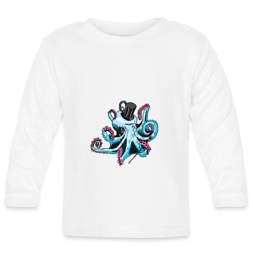 Gentleman Octopus Toddlers Tee - Baby Long Sleeve T-Shirt