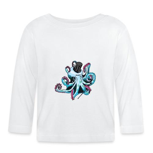 Gentleman Octopus Toddlers Tee - Baby Long Sleeve T-Shirt