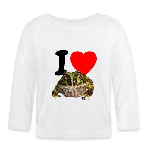 """Langarm-Shirt - """"I love  Frogs"""" - Baby Langarmshirt"""
