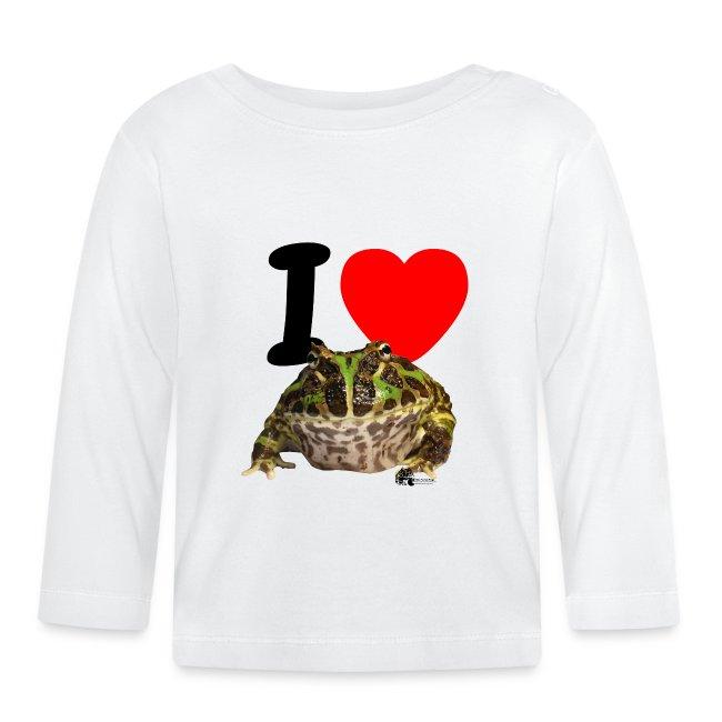 "Langarm-Shirt - ""I love  Frogs"""