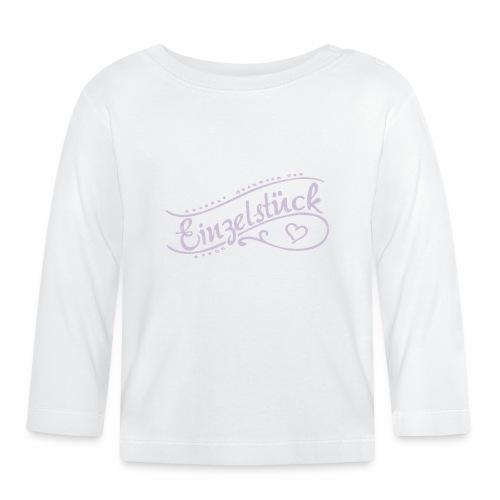 Einzelstück, Geburt, Baby, Geschenk - Baby Langarmshirt